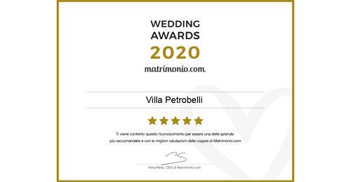 Villa Petrobelli wedding awards 2020